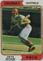 Pete Rose 1974 Topps baseball card